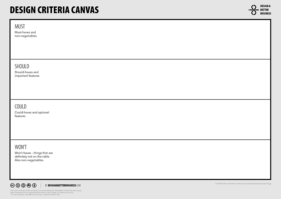 DBB Design Criteria Canvas